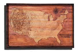 Vintage United States Map by United States Of America Topographical Map From A Varity Of Wood