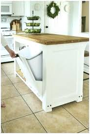 kitchen island with garbage bin kitchen island with trash pull out kitchen island with trash bin