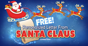 personalized letter from santa free personalized letter from santa
