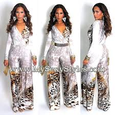 cheetah print jumpsuit ivory cheetah print sleeves v neck wide leg jumpsuit