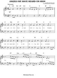 angels we have heard on high sheet music christmas sheet music free