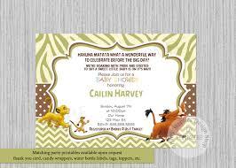 lion king simba baby shower invitations simba lion king baby