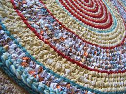 Rag Rugs For Kitchen Crochet Rag Rug Toothbrush Woven Rug Non Skid Backing Mixed Media