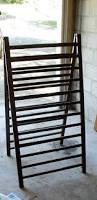 Free Wood Crib Plans by Vintage Quilt Racks Wooden Quilt Rack With Shelf Wood Quilt Rack