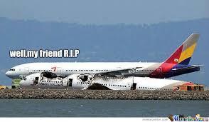 Plane Memes - san francisco plane crash by trollgunner meme center