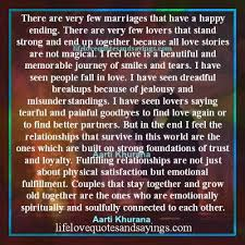 there are few marriages that a happy ending there are