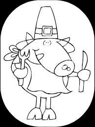 thanksgiving coloring page pilgrim pig primarygames play free