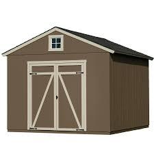 heartland statesman gable engineered wood storage shed common 10