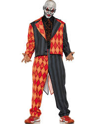domo halloween costume thriller mens scary orange black clown suit halloween costume