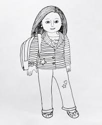 elegant american doll coloring pages print