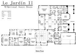 Garage Guest House Floor Plans Le Jardin Adobe Homes Florida