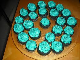 black velvet mini cupcakes w teal frosting sharks cupcakes