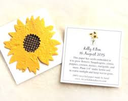 sunflower seed wedding favors sunflowers favors etsy