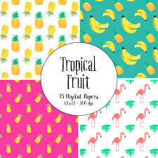Pineapple Home Decor by Watercolor Tropical Fruit Pineapple Pattern Digital Paper