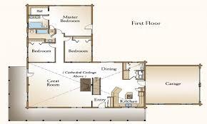 cabin plan bedroom log floor wonderful plans one story three house