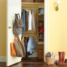 how to make a closet hold coats shoes backpacks organizing with