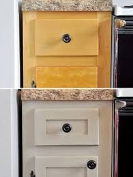 Kitchen Cabinets Diy by Inexpensively Update Old Flat Front Cabinets By Adding Trim Paint