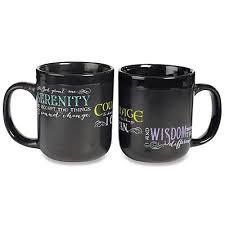 serenity prayer mug black serenity prayer mug