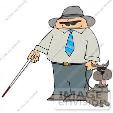 Blind Man Cane Clipart Of A Blind Man With A Cane Holding The Leash To His