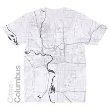 Map Of Columbus Citee Fashion Columbus Oh Map T Shirt
