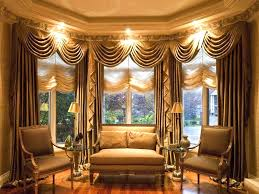 curtains for bay windows in living room breathtaking gold window