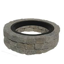 Fire Pit Shop 43 5 In W X 43 5 In L Allegheny Concrete Firepit Kit At Lowes Com