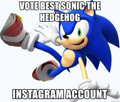 Sonic The Hedgehog Meme - vote best sonic the hedgehog instagram account sonic the hedgehog