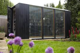 Backyard Offices Flat Pack Pre Fab Building Makes Stunning Backyard Library