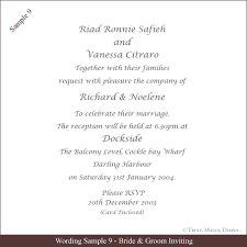 wedding invite verbiage wedding card content sle tbrb info