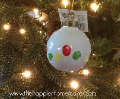 diy kid s fingerprint ornament the happier homemaker