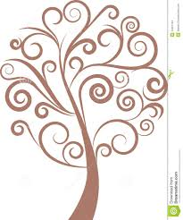 decorative swirl floral tree vector from 37