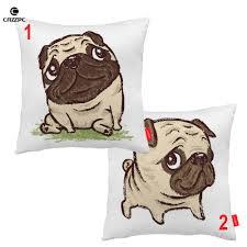 pug home decor cute funny cartoon innocent pure pug pet dog print decorative