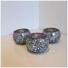 black mosaic tealight holders set of 3 amazon co uk kitchen u0026 home