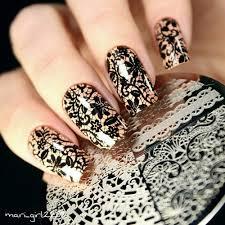 born pretty chic lace pattern nail art stamping template image
