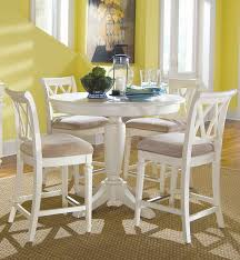 american drew camden white round dining table set camden light round counter height pedestal table dining room set by