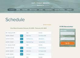 yoga of mendocino healing arts web yoga website design