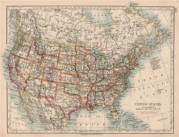 map of the united states showing states and cities usa united states showing states and railroads johnston 1906