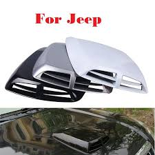 jeep hood vents 2017 car styling car styling air flow intake hood vent bonnet cover