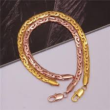 gold bracelet chain designs images 2018 new gold bracelet designs gold plating flat chain men jpg