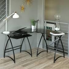 2 tier glass computer desk best home furniture decoration