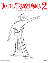 hotel transylvania 2 printable coloring sheets