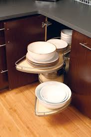 Corner Storage Shelves by Corner Cabinets Turntable Shelves Dura Supreme Cabinetry