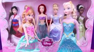 film kartun anak barbie terbaru frozen dolls elsa and anna dress up party with disney princess set