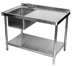 Stainless Steel Sinks Sink Benches Commercial Kitchen Stainless Steel Table Sink Ebay