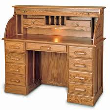 Secretary Desk With Hutch by Double Pedestal Solid Wood Roll Top Desk 51