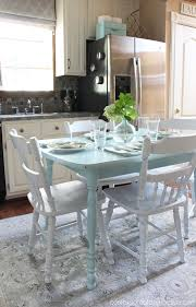 Teal Dining Table Top 10 Kitchen Table Transformations Painted Furniture Ideas