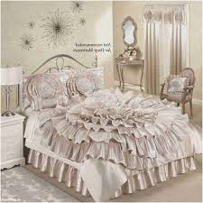 linen comforter bedding sets luxury ruffled romance champagne