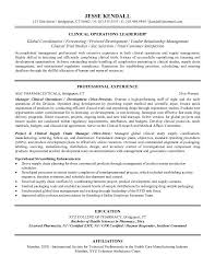 free clinical operations manager resume exampleoperations manager