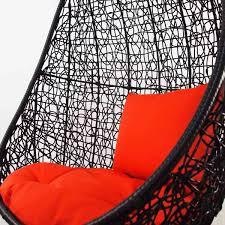 Cocoon Swing Chair Black Cocoon Swing Chair Orange Cushion Furniture U0026 Home Décor