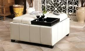 Leather Storage Ottoman Coffee Table Durango 4 Tray Top Storage Ottoman Coffee Table Durango 4 Tray